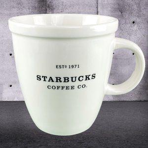 Starbucks 2001 White Ceramic Coffee Mug Abbey 18oz